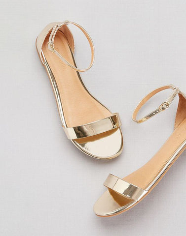 Glow In Gold Fancy Flats