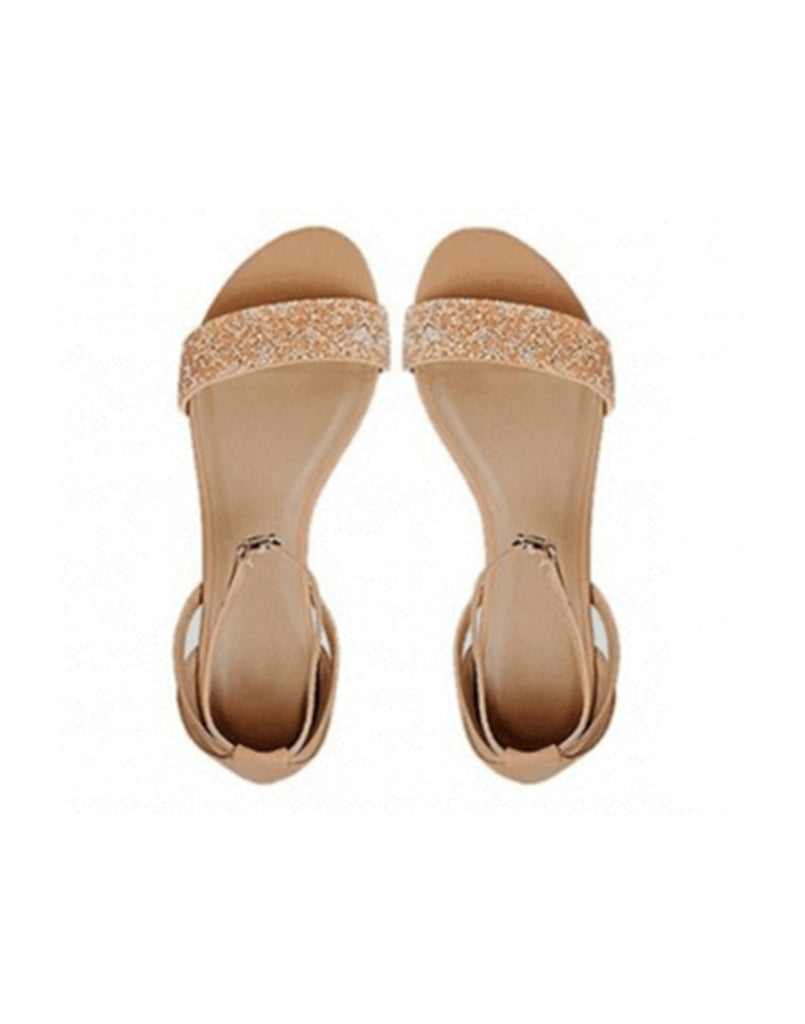 Shiny Touch Beige Flats