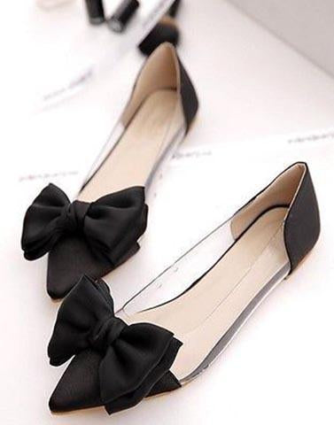 Eccentric Black Transparent Flats