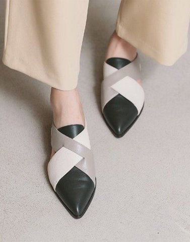 Black Formal Edge Mules