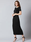 Stylish Black Long Gown