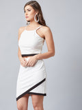 Swish Rich Off White Top With Skirt