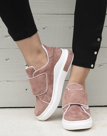 Dusty Suede Pink Sneakers
