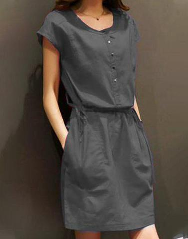 Hot Grey Shift Dress