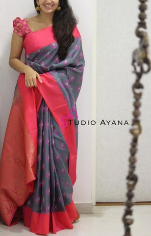 Trishulom Multicolored Soft Silk Modish Printed Saree