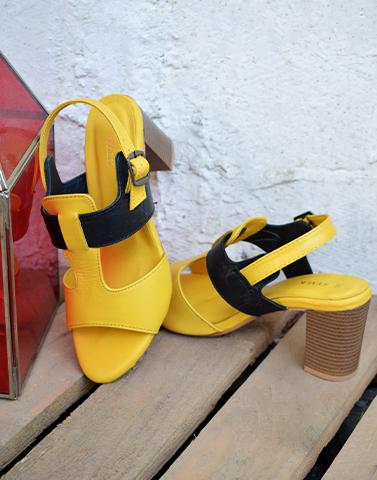 Fashionista In Yellow Heels