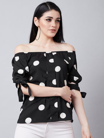 Polka Retro Balloon Top