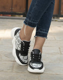 Chic In Casual Snakeskin Sneakers