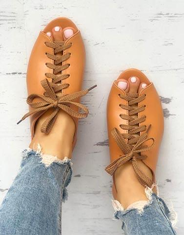 Mix It Up Brown Flats
