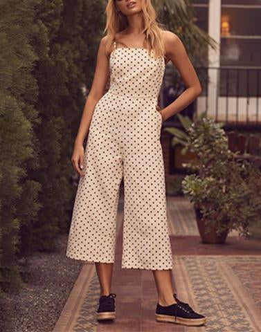 Pure Polka Off-White Jumpsuit