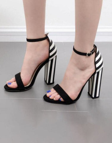 Simply Block Black Heels