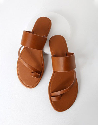 Brown Caramel Indo-Western Flats