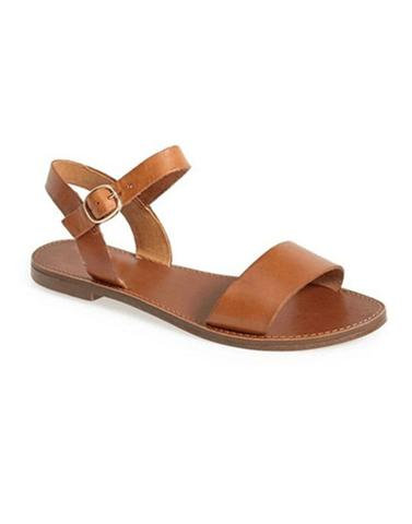 Swanky Brown Strappy Flats