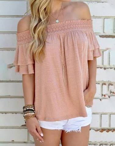 Dusty Pink Ruffled Sleeves Top