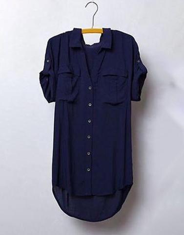 Funky Navy Blue Loose Shirt