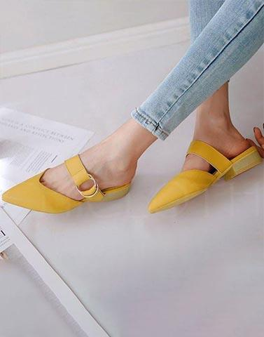 Statement Yellow Classic Mules