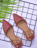 Brown Ankel Strap Flats