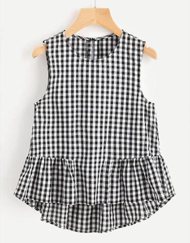 Checkered Frills 'n' Fun Top