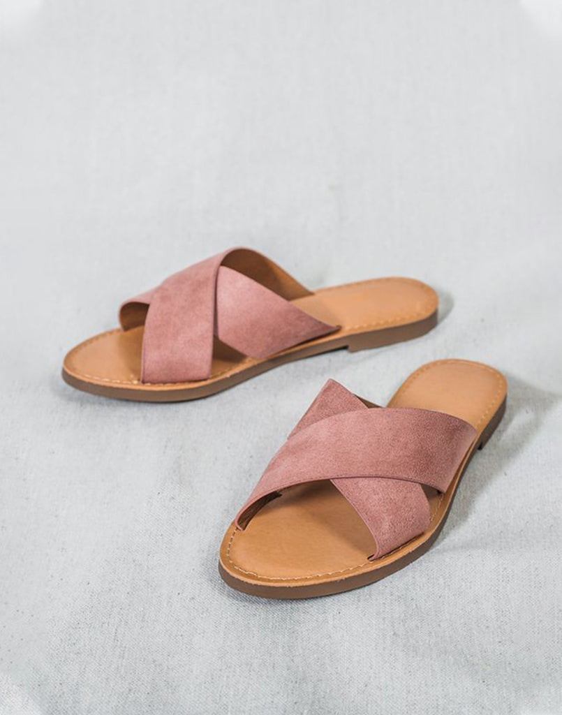 Casual Dusty Pink Flats