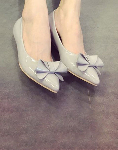 Shining Grey Casual Flats