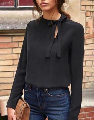 Black Back To Work Top