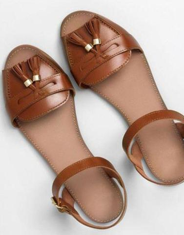 Chic Brown Leather flats