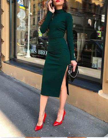 Bodycon Beauty Green Dress