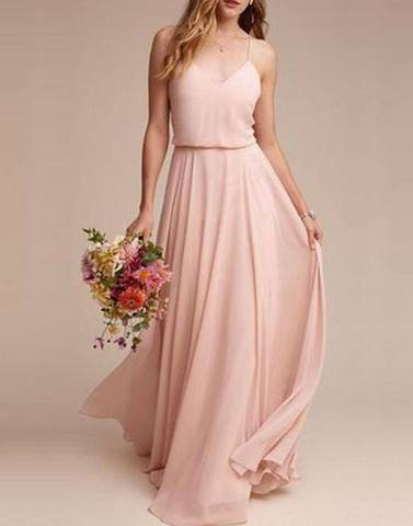 Lovely Peach Maxi Dress