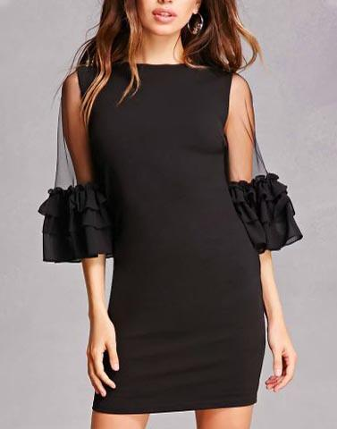 Talk Of Black Sleeves Dress