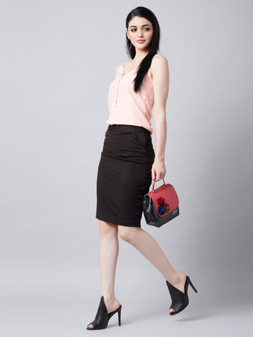 Workwear Bodycon Skirt And Top
