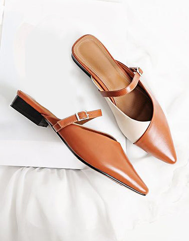 Workwear Basic Brown Flats