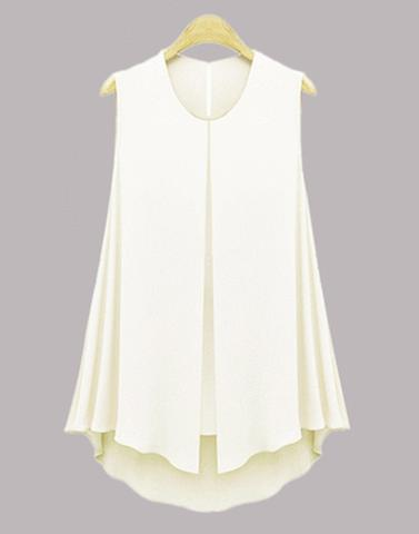 Side Frilled White Frilled Top