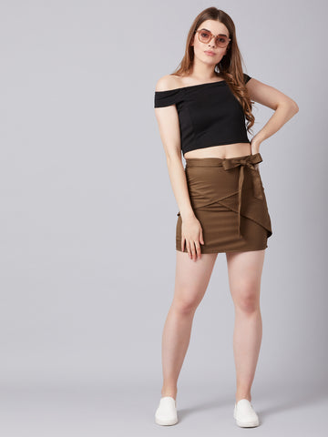 Hot Beige Skirt With Ultrachic Top