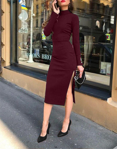 Bodycon Beauty Wine Dress