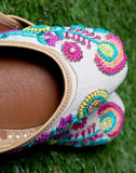 Pride Embroided Leather Juttis