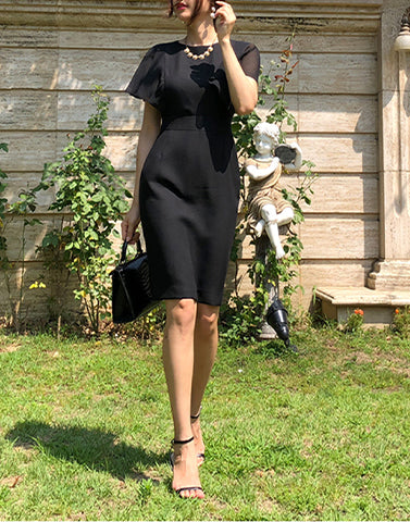 Crepe Anna Black Dress
