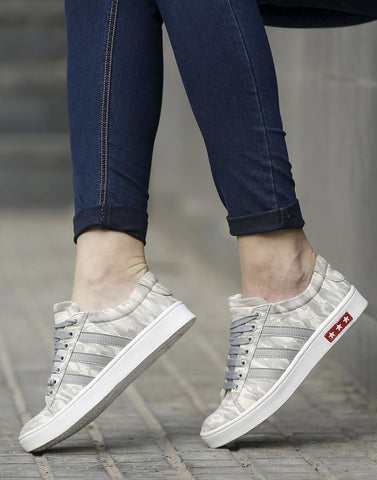 Grey Camouflage Sneakers