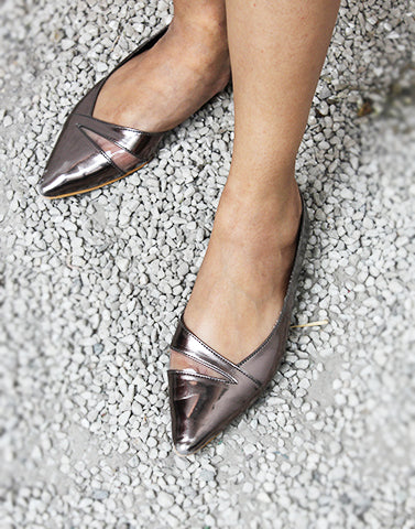 Clear Band Pointed Flats
