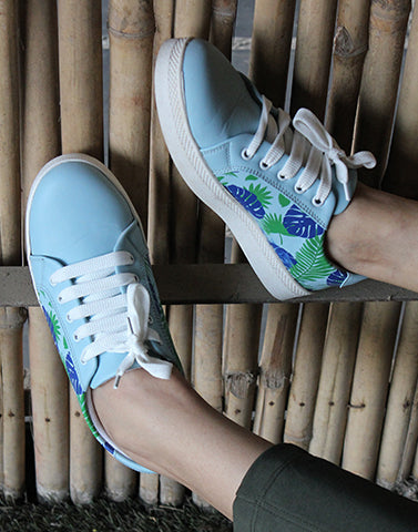 Willow Leaves Printed Sneakers