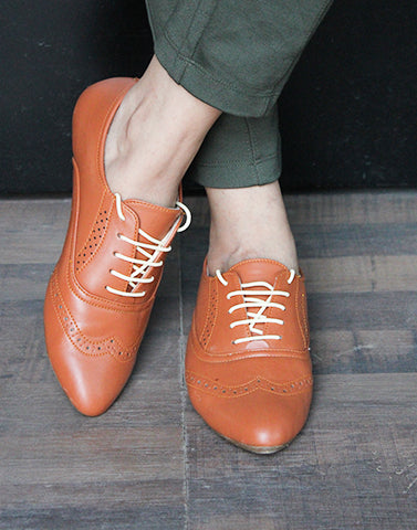 Style Hard Tan Oxford Shoes
