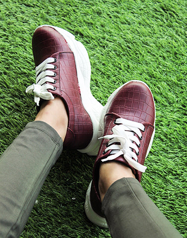 Step Up Maroon Sneakers