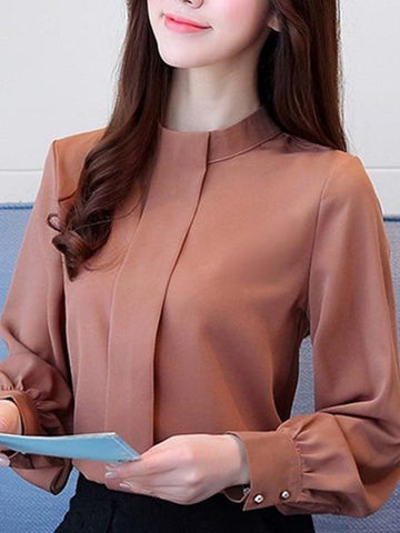 Front Placket Rust Shirt
