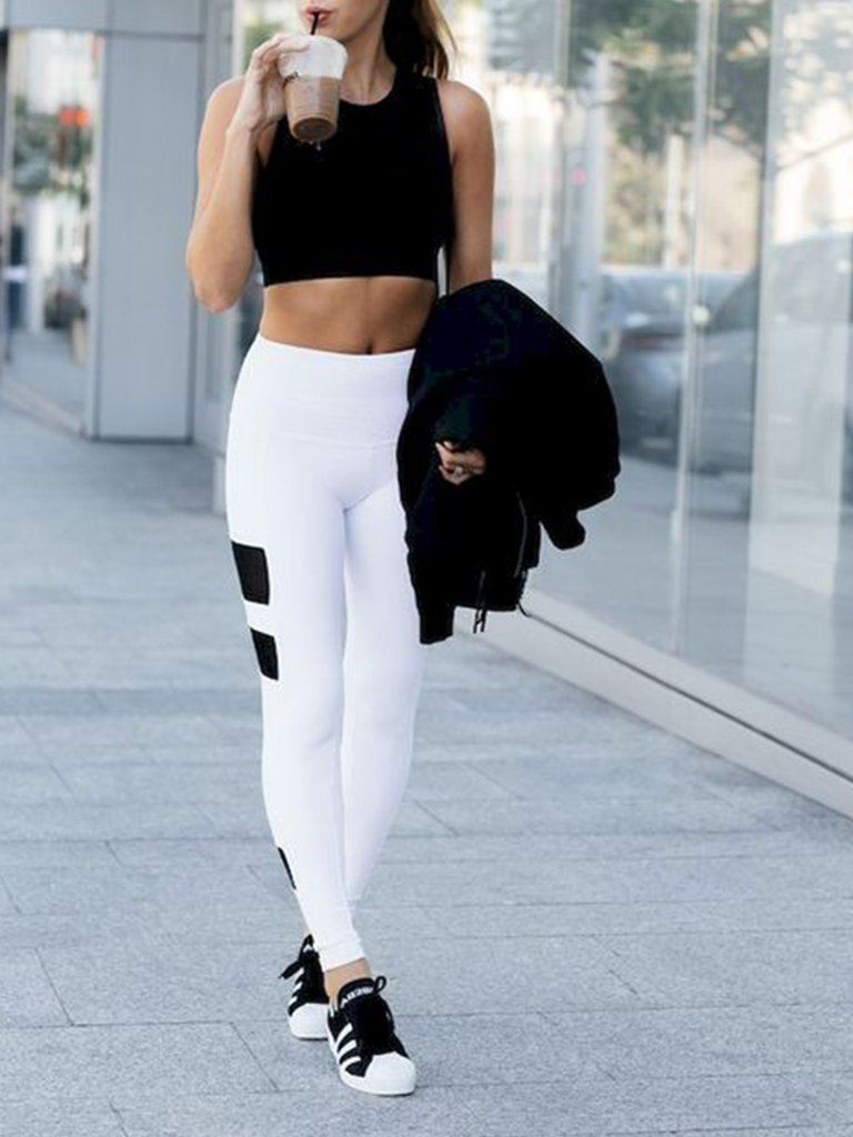 Black And White Active Wear Set