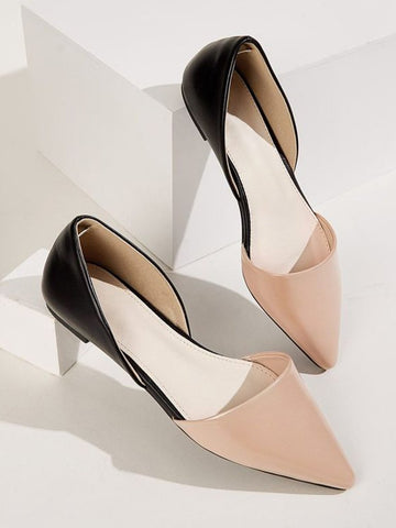 Pretty Peach Formal Flats