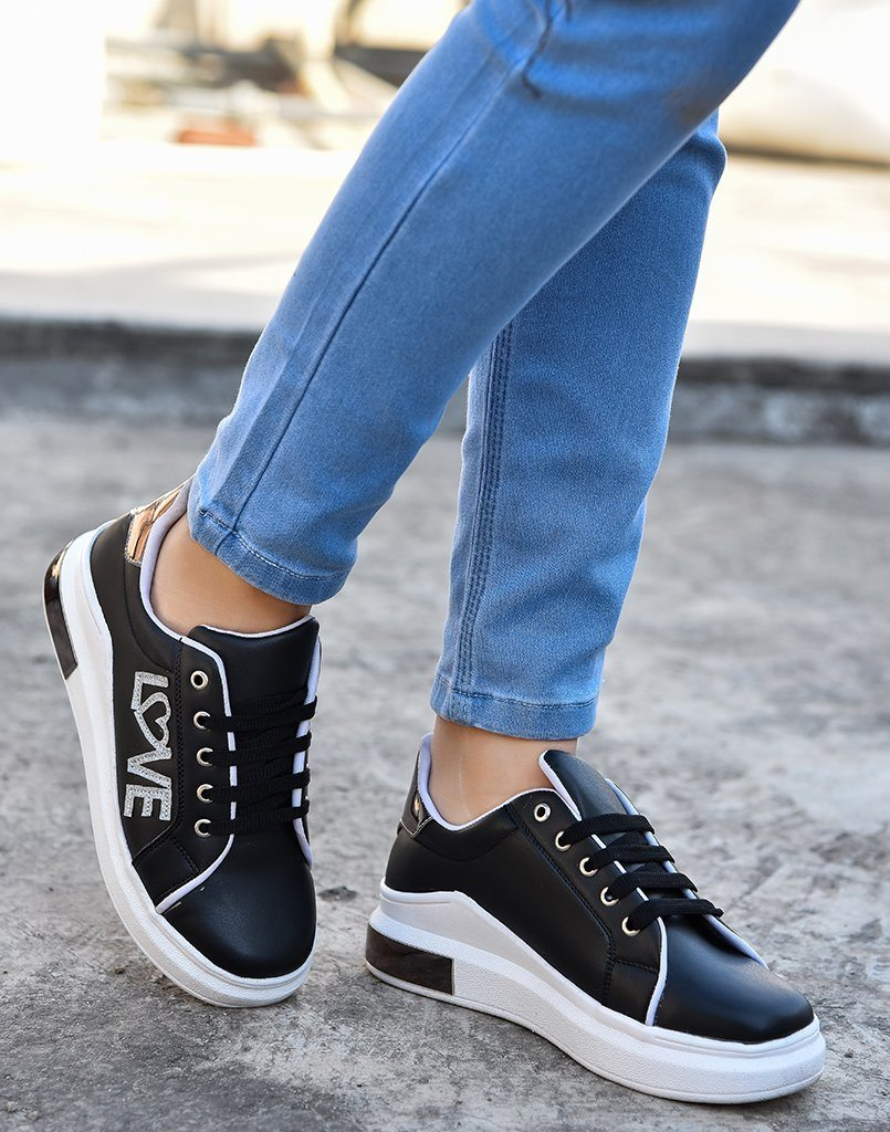 Love With Black Sneakers