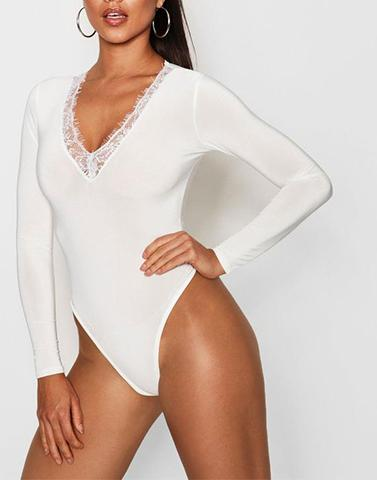 Dramatic White Body Suit