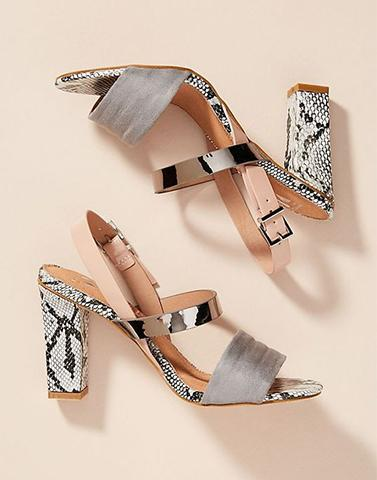 Go With Everything Snake Print Heels