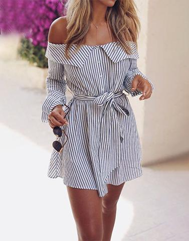 Quit Mundane Stripes Dress