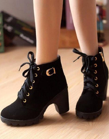 Black Buckled Boots
