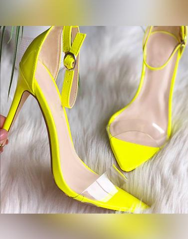 Lose It All Strap Neon Heels